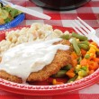 Close up of chicken fried steak — Stock Photo