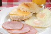 Breakfast biscuit — Stock Photo