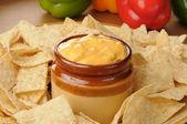 Salsa con queso — Stock Photo