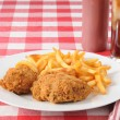Fried chicken and french fries — Stock Photo #11080027