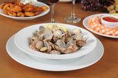 Seafood buffet — Stock Photo
