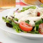 Close up of a green salad — Stock Photo