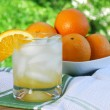 Orange Juice on the Patio — Stock Photo