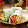 Stock Photo: Salad wrap sandwiches