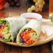 Salad wrap sandwiches — Stock Photo