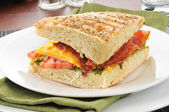 Bacon, Lettuce, Tomato and Cheese Panini — Stock Photo