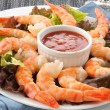 Shrimp cocktail closeup — Stock Photo