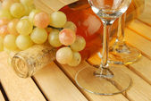 Druvor och vin — Stockfoto