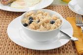 Hot cereal breakfast — Stock Photo