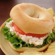 Chicken salad sandwich on a bagel — Foto Stock