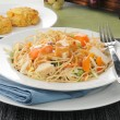 Thai salad with crab cakes — Stock Photo