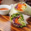 Stock Photo: Avocado spring rolls