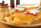 Large burritos close up — Stock Photo