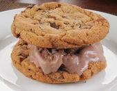 Chocolate ice cream sandwich — Stock Photo