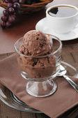 Gourmet double chocolate ice cream — Stock Photo