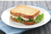 Grilled tuna sandwich — Stock Photo