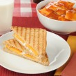 Stock Photo: Grilled cheese sandwich with ravioli