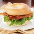 BLT sandwich on a bagel — Stock Photo