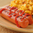 Stock Photo: Hot dogs close up