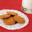 Foto Stock: Ginger snap cookies