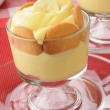 Pudding with bananas and vanilla wafers - Stock Photo