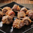 Stock Photo: Sirloin tips wrapped in bacon