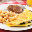 Hearty breakfast — Stock Photo