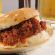 Royalty-Free Stock Photo: Sloppy joe and beer