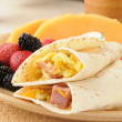 breakfast burrito — Stock Photo