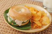 Bagel sandwich — Stock Photo