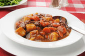 Bowl of beef stew — Stockfoto