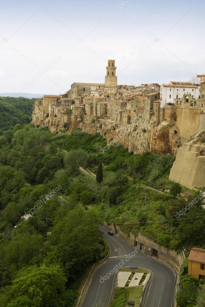 Pitigliano, rural village in Tuscany  — Stock Photo #11063428