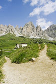 Paths in the Dolomites — Stock Photo