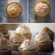 Cupcake-collage — Stockfoto