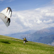 Royalty-Free Stock Photo: Paragliding on the mountain