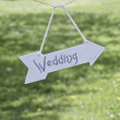 The wedding sign — Stock Photo
