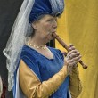 Stock Photo: Female medieval musician