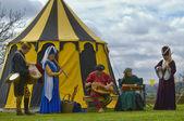 Eine gruppe von mittelalterlichen musikern — Stockfoto