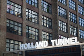 Holland Tunnel Sign — Stock Photo
