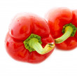 Red pepper isolated on white — Foto Stock