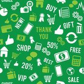 Seamless marketing pattern — Stock Vector