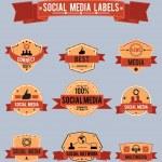 Social media labels — Stock Vector