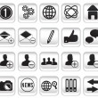 Stock Vector: Set community buttons icons - part 1