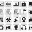Royalty-Free Stock Immagine Vettoriale: Set community buttons icons - part 2