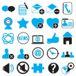 Set icons for community — Stock Vector