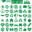 Set of life eco love icons — Stock Vector #11235998
