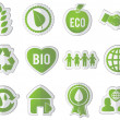 Set of eco stickers — Stock Vector