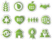 Set of eco stickers — Stock Vector