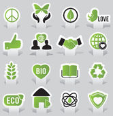Labels - eco — Stock Vector