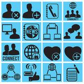 Reihe von social-media-icons — Stockvektor